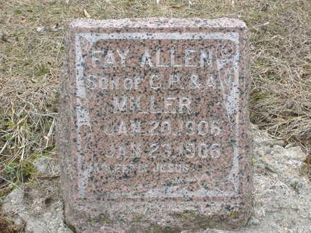 MILLER, FAY ALLEN - Guthrie County, Iowa   FAY ALLEN MILLER