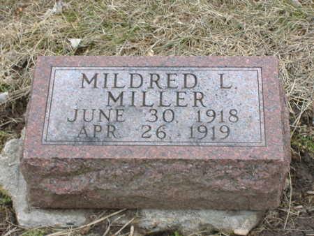 MILLER, MILDRED L - Guthrie County, Iowa   MILDRED L MILLER