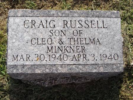 MINKNER, CRAIG RUSSELL - Guthrie County, Iowa   CRAIG RUSSELL MINKNER
