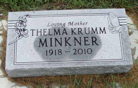 KRUMM MINKNER, THELMA - Guthrie County, Iowa | THELMA KRUMM MINKNER