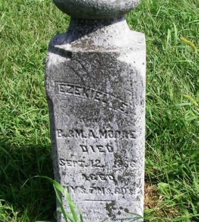 MOORE, EZEKIEL E. - Guthrie County, Iowa   EZEKIEL E. MOORE