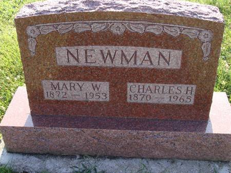 NEWMAN, MARY W - Guthrie County, Iowa | MARY W NEWMAN