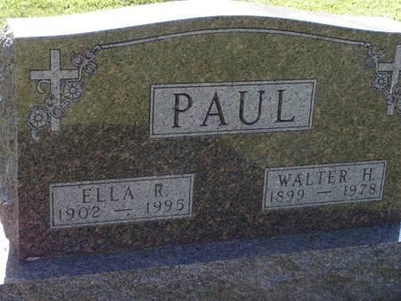 WEDEMEYER PAUL, ELLA R - Guthrie County, Iowa   ELLA R WEDEMEYER PAUL