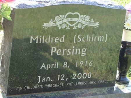 SCHIRM PERSING, MILDRED - Guthrie County, Iowa | MILDRED SCHIRM PERSING