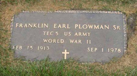 PLOWMAN, FRANKLIN EARL SR. - Guthrie County, Iowa | FRANKLIN EARL SR. PLOWMAN