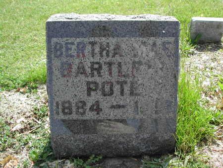 BARTLETT POTE, BERTHA MAE - Guthrie County, Iowa | BERTHA MAE BARTLETT POTE