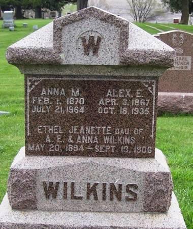 WILKINS, ALEX E. - Guthrie County, Iowa | ALEX E. WILKINS