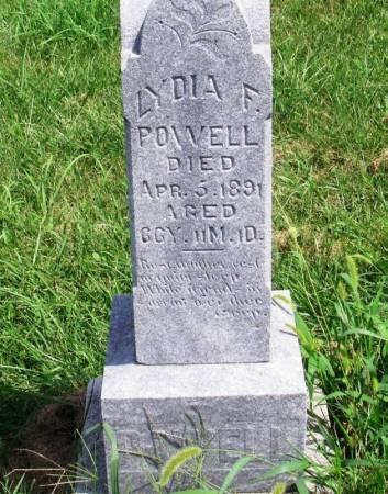 POWELL, LYDIA F. - Guthrie County, Iowa | LYDIA F. POWELL