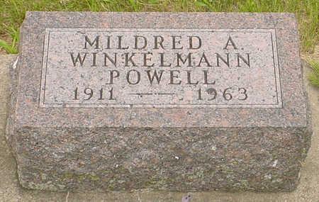 WINKELMANN POWELL, MILDRED A. - Guthrie County, Iowa | MILDRED A. WINKELMANN POWELL