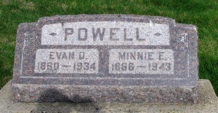 POWELL, MINNIE E. - Guthrie County, Iowa   MINNIE E. POWELL