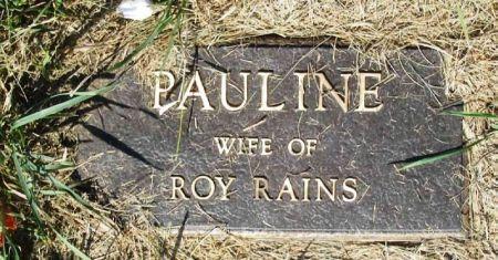 RAINS, PAULINE - Guthrie County, Iowa | PAULINE RAINS