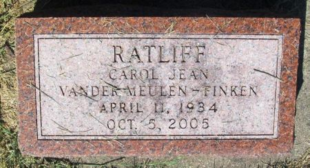 VANDER MEULEN - FINKEN RATLIFF, CAROL JEAN - Guthrie County, Iowa | CAROL JEAN VANDER MEULEN - FINKEN RATLIFF