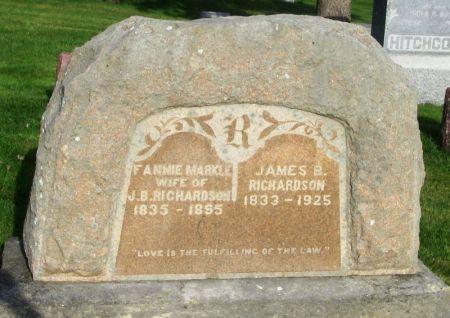 RICHARDSON, FANNIE - Guthrie County, Iowa | FANNIE RICHARDSON