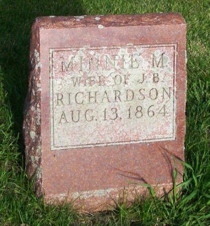 RICHARDSON, MINNIE M - Guthrie County, Iowa | MINNIE M RICHARDSON