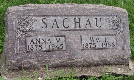 SACHAU, ANNA M - Guthrie County, Iowa   ANNA M SACHAU