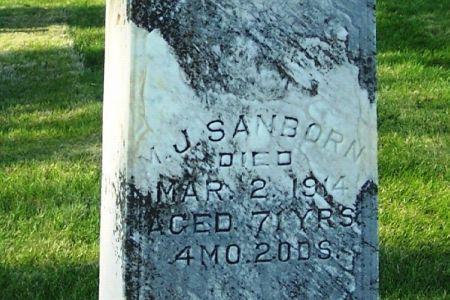 SANBORN, MORTON J. - Guthrie County, Iowa   MORTON J. SANBORN