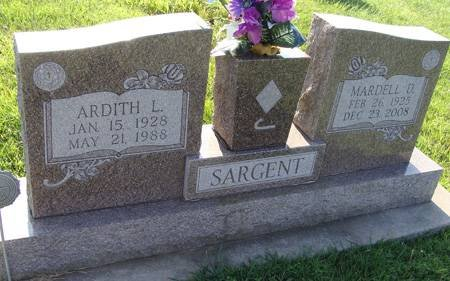 SARGENT, ARDITH L - Guthrie County, Iowa | ARDITH L SARGENT