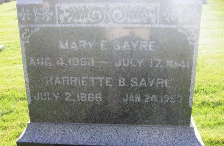 SAYRE, MARY E. - Guthrie County, Iowa   MARY E. SAYRE