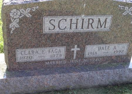 FAGA SCHIRM, CLARA E - Guthrie County, Iowa   CLARA E FAGA SCHIRM