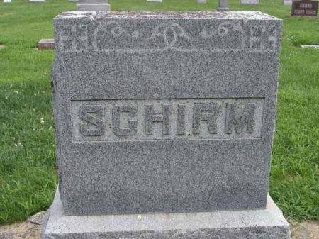 SCHIRM, FAMILY MONUMENT - Guthrie County, Iowa   FAMILY MONUMENT SCHIRM
