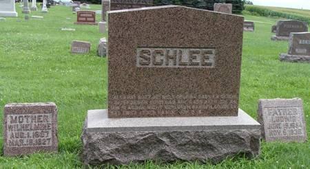 SCHLEE, WILHELMINE - Guthrie County, Iowa   WILHELMINE SCHLEE