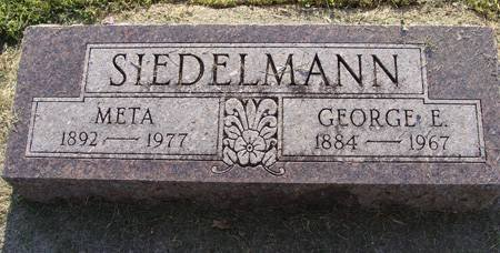 SIEDELMANN, GEORGE E - Guthrie County, Iowa | GEORGE E SIEDELMANN