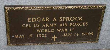 SPROCK, EDGAR A. - Guthrie County, Iowa | EDGAR A. SPROCK