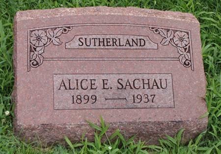 SACHAU SUTHERLAND, ALICE E - Guthrie County, Iowa | ALICE E SACHAU SUTHERLAND