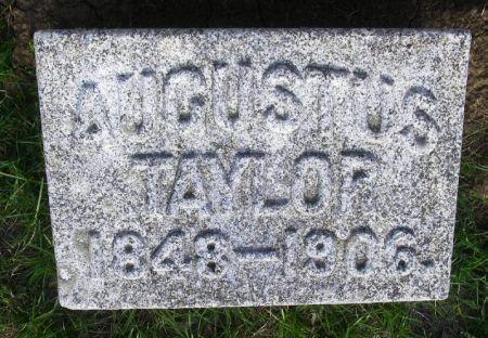 TAYLOR, AGUSTUS - Guthrie County, Iowa   AGUSTUS TAYLOR