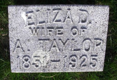 TAYLOR, ELIZA D. - Guthrie County, Iowa | ELIZA D. TAYLOR