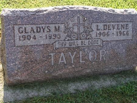 TAYLOR, GLADYS M - Guthrie County, Iowa | GLADYS M TAYLOR