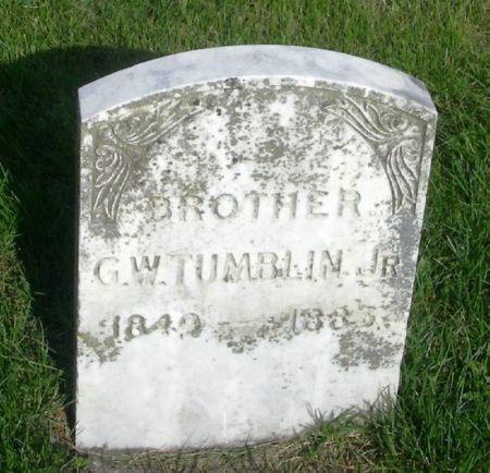 TUMBLIN, G.W., JR. - Guthrie County, Iowa | G.W., JR. TUMBLIN