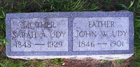 UDY, JOHN W. - Guthrie County, Iowa | JOHN W. UDY