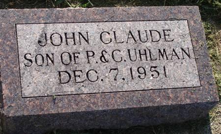 UHLMAN, JOHN CLAUDE - Guthrie County, Iowa | JOHN CLAUDE UHLMAN