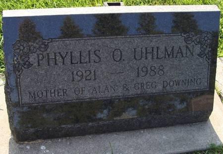 UHLMAN, PHYLLIS O - Guthrie County, Iowa | PHYLLIS O UHLMAN