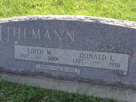 UHLMANN, DONALD L - Guthrie County, Iowa   DONALD L UHLMANN