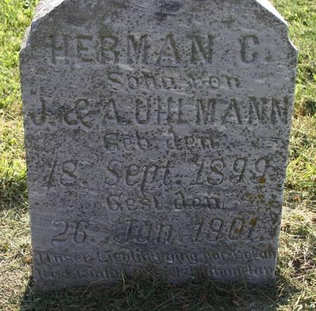 UHLMANN, HERMAN C - Guthrie County, Iowa   HERMAN C UHLMANN
