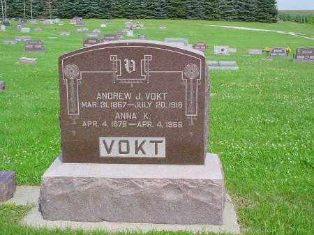 VOKT, ANDREW J - Guthrie County, Iowa   ANDREW J VOKT