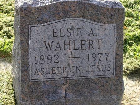 WAHLERT, ELSIE A - Guthrie County, Iowa | ELSIE A WAHLERT