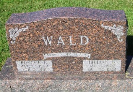 WALD, ROSCOE E. - Guthrie County, Iowa   ROSCOE E. WALD