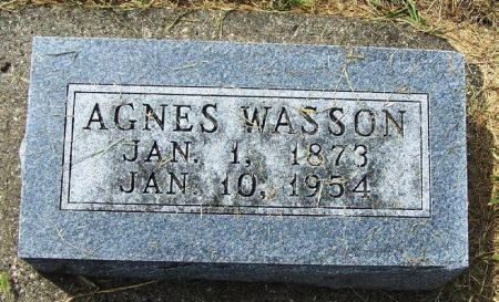 WASSON, AGNES - Guthrie County, Iowa | AGNES WASSON