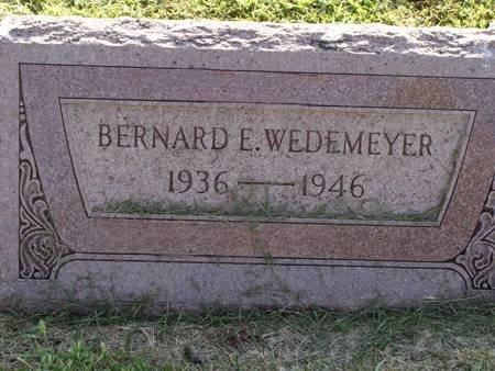 WEDEMEYER, BERNARD E - Guthrie County, Iowa | BERNARD E WEDEMEYER
