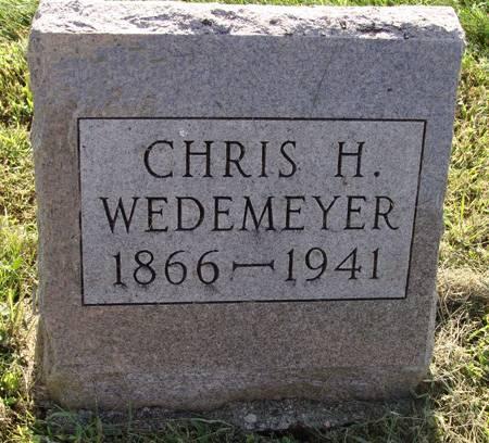 WEDEMEYER, CHRIS H - Guthrie County, Iowa   CHRIS H WEDEMEYER