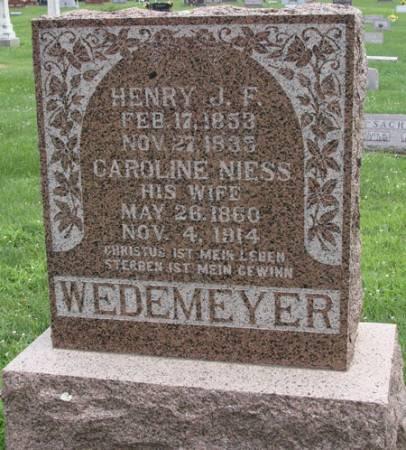 WEDEMEYER, CAROLINE - Guthrie County, Iowa | CAROLINE WEDEMEYER