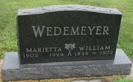 WEDEMEYER, MARIETTA - Guthrie County, Iowa | MARIETTA WEDEMEYER