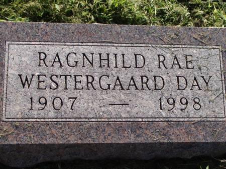 WESTERGAARD DAY , RAGNHILD RAE - Guthrie County, Iowa   RAGNHILD RAE WESTERGAARD DAY