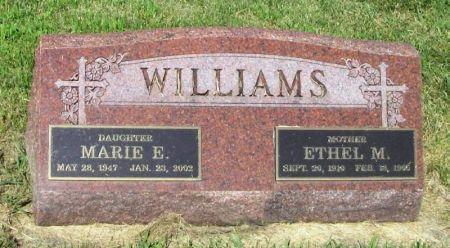 WILLIAMS, ETHEL M. - Guthrie County, Iowa   ETHEL M. WILLIAMS