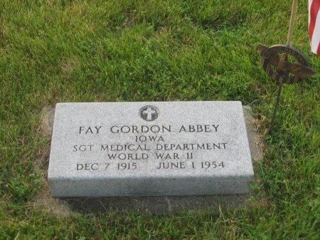ABBEY, FAY GORDON - Hamilton County, Iowa   FAY GORDON ABBEY