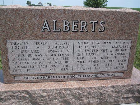 REDMAN ALBERTS, MILDRED - Hamilton County, Iowa | MILDRED REDMAN ALBERTS