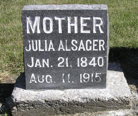 ALSAGER, JULIA - Hamilton County, Iowa   JULIA ALSAGER